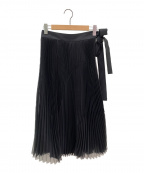 CYCLAS(シクラス)の古着「パネルチェンジプリーツスカート」|ブラック