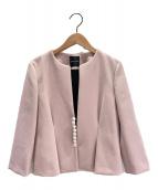 ()の古着「パールジャケット」 ピンク