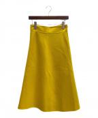 JIL SANDER(ジルサンダー)の古着「ウールスカート」|マスタード