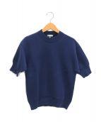 ()の古着「半袖ニット」 ブルー