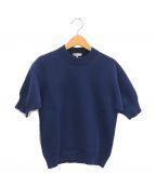 BLAMINK(ブラミンク)の古着「半袖ニット」|ブルー