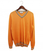 HERMES(エルメス)の古着「リネンニット」|オレンジ