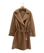 ()の古着「ベルテッドコート」|キャメル