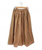 Demi-Luxe Beams(デミルクス ビームス)の古着「ウエストギャザー スカート」 ブラウン