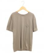LOUIS VUITTON(ルイ ヴィトン)の古着「モノグラムワンポイントTシャツ」|ベージュ