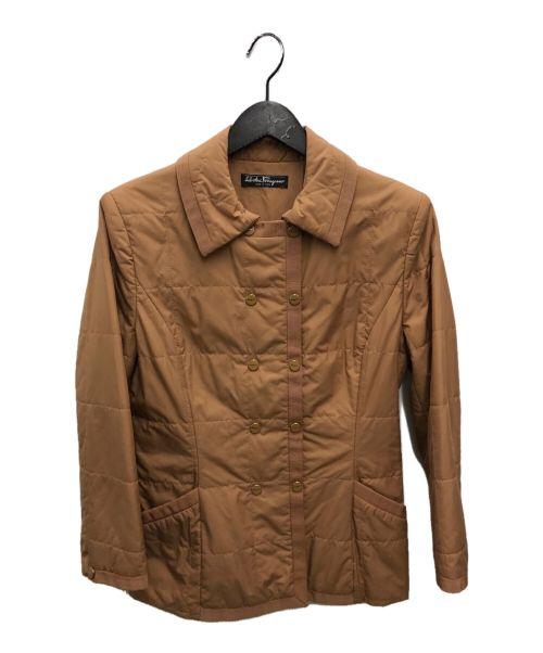 Salvatore Ferragamo(サルヴァトーレ フェラガモ)Salvatore Ferragamo (サルヴァトーレ フェラガモ) 中綿ジャケット ライトブラウン サイズ:-の古着・服飾アイテム