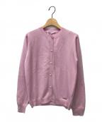 Agnona(アニオナ)の古着「クルーネックカーディガン」|ライトピンク