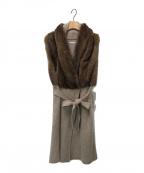 ARIA CHIARA(アリアキアラ)の古着「ニットベスト」|ベージュ