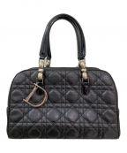 Christian Dior(クリスチャン ディオール)の古着「チャーム付カナージュハンドバッグ」|ブラック