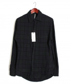 RIP VAN WINKLE(リップヴァンウィンクル)の古着「チェックシャツ」|ネイビー