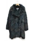 MM6(エムエムシックス)の古着「フェイクファーコート」|グリーン