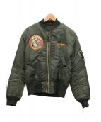 PHERROWS(フェローズ)の古着「MA-1ジャケット」|オリーブ