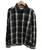 STUDIO DARTISAN(ステュディオダルチザン)の古着「チェックワークシャツ」|ブラック