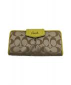 COACH(コーチ)の古着「2つ折り財布」|カーキ×イエロー