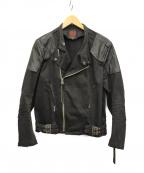 RED MOON(レッドムーン)の古着「コットンライダースジャケット」|ブラック