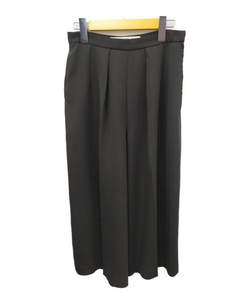 TARO HORIUCHI(タロウホリウチ)TARO HORIUCHI (タロウホリウチ) ワイドパンツ ブラック サイズ:2 無地 オールシーズンの古着・服飾アイテム