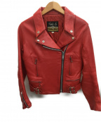 666(トリプルシックス)の古着「ライダースジャケット」|レッド