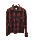 MOMOTARO JEANS(桃太郎ジーンズ)の古着「ハーフジップジャケット」|レッド×ブラック