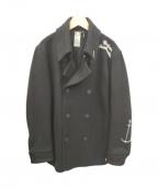 BEDWIN(ベドウィン)の古着「Pコート スタッズ」 ブラック