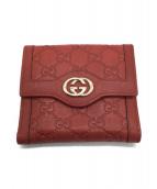 GUCCI(グッチ)の古着「2つ折り財布」|レッド