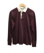 Rugby Ralph Lauren(ラグビーラルフローレン)の古着「ラガーシャツ」|ワインレッド