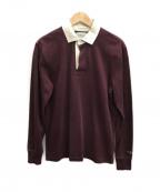 Rugby Ralph Lauren(ラグビーラルフローレン)の古着「ラガーシャツ」 ワインレッド