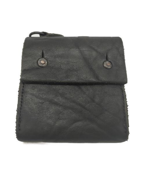 BACKLASH(バックラッシュ)BACKLASH (バックラッシュ) レザーウォレット ブラック ISAMU KATAYAMA 318-19 定価27000円 牛革の古着・服飾アイテム