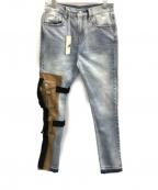 mnml(ミニマル)の古着「切替しジーンズ」|インディゴ