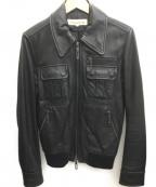 Galaabend(ガラアーベント)の古着「A2レザージャケット」|ブラック