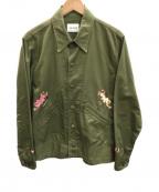 CAL O LINE(キャルオーライン)の古着「ミリタリーシャツ」 カーキ