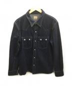 FLAT HEAD(フラット ヘッド)の古着「デニムウエスタンシャツ」 インディゴ