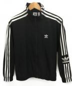 adidas(アディダス)の古着「ナイロントラックジャケット」|ブラック