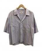 MONKEY TIME(モンキータイム)の古着「クロップドシャツ」|バイオレット×ホワイト