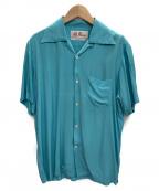 Aloha Blossom(アロハブロッサム)の古着「レーヨンシャツ」 スカイブルー