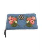 GUCCI(グッチ)の古着「長財布」|ブルー