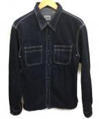 FLAT HEAD(フラット ヘッド)の古着「デニムワークシャツ」 インディゴ