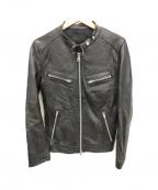 JACKROSE(ジャックローズ)の古着「シングルライダースジャケット」 ブラック