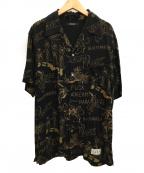 MINEDENIM(マインデニム)の古着「アロハシャツ」|ブラック