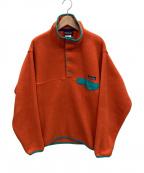 Patagonia(パタゴニア)の古着「シンチラスナップTプルオーバー」|オレンジ