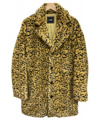 ()の古着「レオパードファーコート」|イエロー×ブラック