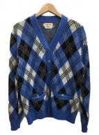()の古着「ニットカーディガン」|ブルー