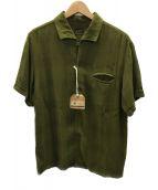 TENDERLOIN(テンダーロイン)の古着「RAYON PLAID SHT」|オリーブ