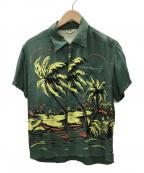 FLAT HEAD(フラット ヘッド)の古着「ハワイアンシャツ」 グリーン