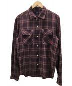 WTAPS(ダブルタップス)の古着「オープンカラーレーヨンチェックシャツ」|ワインレッド