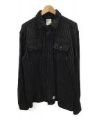WTAPS(ダブルタップス)の古着「ウールシャツ」|ブラック