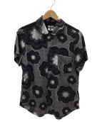 BLACK COMME des GARCONS(ブラックコムデギャルソン)の古着「半袖シャツ」|グレー×ブラック