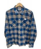 ()の古着「チェックネルシャツ」|ブルー