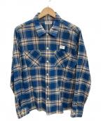 RADIALL(ラディアル)の古着「チェックネルシャツ」|ブルー