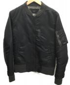 CASSAVES(カザベス)の古着「MA-1ジャケット」 ブラック×ダークグレー