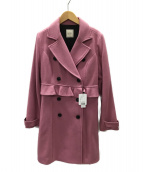 EATME(イートミー)の古着「メルトンデザインPコート」|ダークピンク